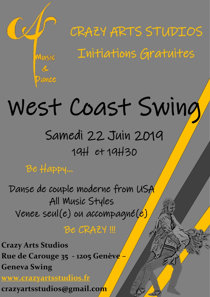 WCS West Coast Swing Geneve Crazy Arts Studios